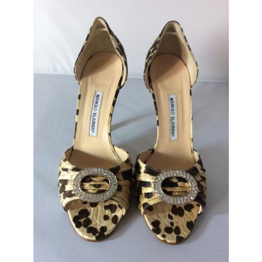 Manolo Blahnik Animal Print Pumps