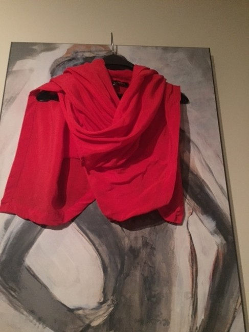 Winter Kate Silk Vintage Going Vest Classy Summer Comfortable Wrap Top RED