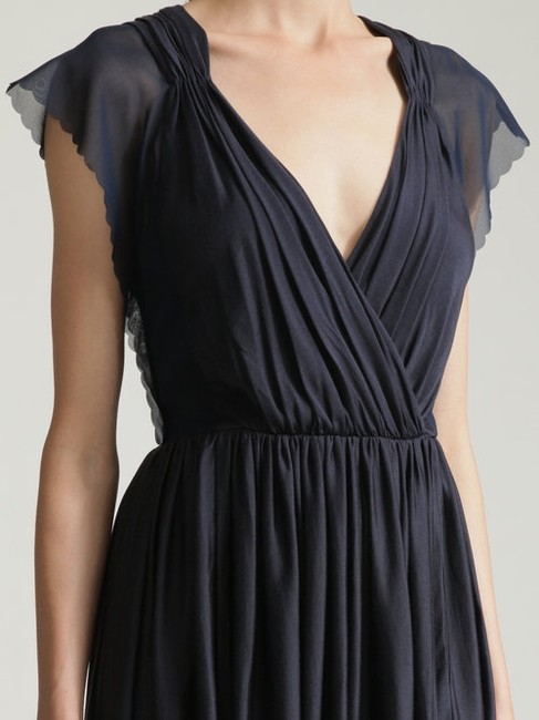 3.1 Phillip Lim Draped Scalloped Gathered Jersey Dress