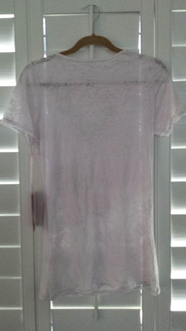Save the Tatas Breast Cancer Awareness Vintage Cotton Burn Out V Neck Long T Shirt a very soft light pale pink