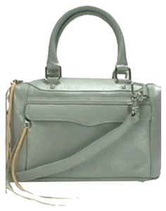 Rebecca Minkoff Mab Mini Mab Morning After Leather Satchel in Dove Grey/Grey Skies/Soft Gray