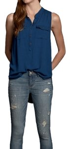 Abercrombie & Fitch Anf Alyssa Shirt Top Blue