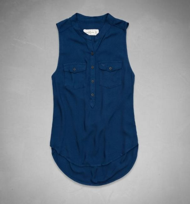 Abercrombie & Fitch A&f Anf Alyssa Shirt Casual Top Blue