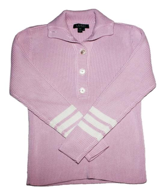 Preload https://img-static.tradesy.com/item/9944788/ralph-lauren-pink-and-cream-with-pearl-buttons-sweaterpullover-size-10-m-0-5-650-650.jpg