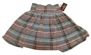 Confess Mini Skirt Blue Plaid
