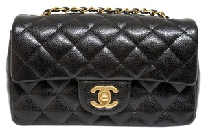 Chanel Gold Hardware Caviar Leather Matte Gold Hardware 2016 Collection Cross Body Bag