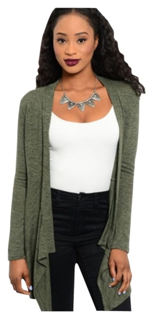 Preload https://item5.tradesy.com/images/olive-and-black-cardigan-size-10-m-9945049-0-1.jpg?width=400&height=650