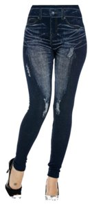 Medium to Dark Blue Leggings