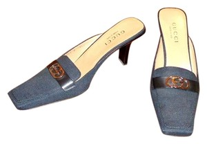 Gucci navy blue Mules