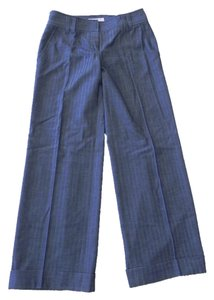 Michael Kors Wide Leg Pants Navy Blue Stripped