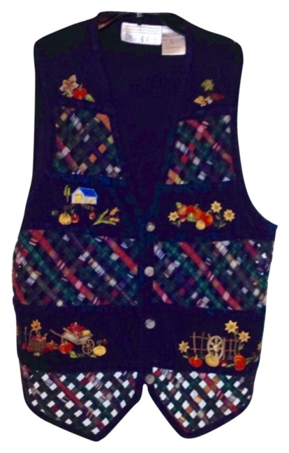 Preload https://item4.tradesy.com/images/casey-and-max-navy-blue-multi-vest-size-12-l-9945448-0-1.jpg?width=400&height=650