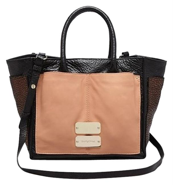 See by Chloé Tote Nellie Small Black/Blush/Metalic Bronze Leather Cross Body Bag See by Chloé Tote Nellie Small Black/Blush/Metalic Bronze Leather Cross Body Bag Image 1
