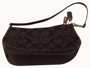 Coach Gray And Black Clutch