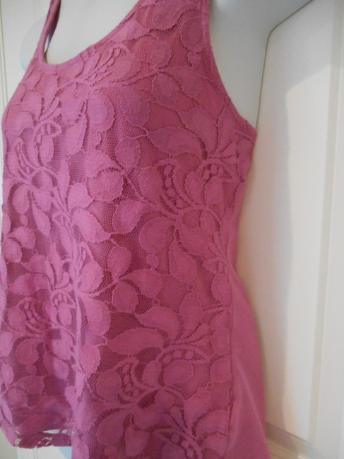 Banana Republic Lace Shirt Cotton Small 4 6 S Petite A Line A-line Dressy Office Casual Summer Layers Top Pink