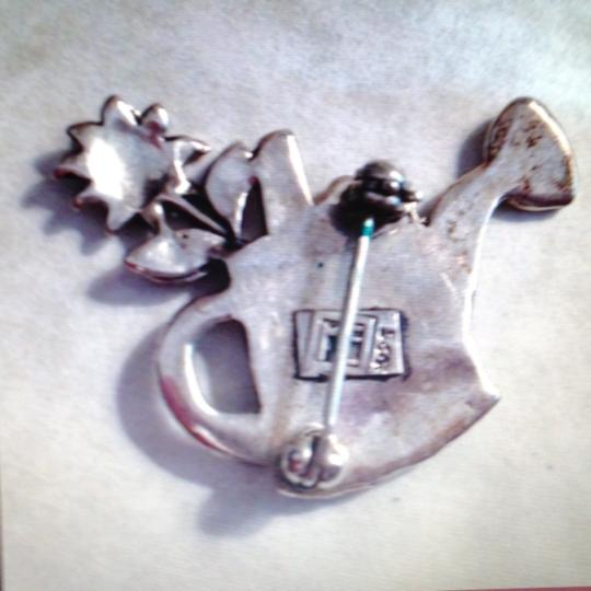 Mary Engelbreit Sterling Silver Brooch / Pin. CHOICE of Basket or Watering Can. WC / BF