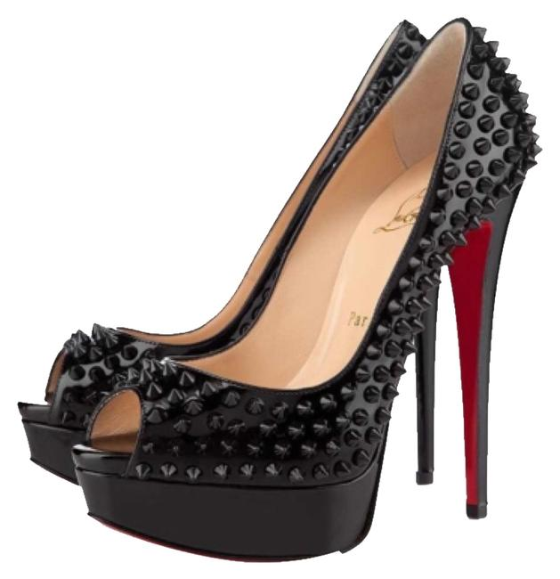 Christian Louboutin Blac Lady Peep Pumps Size US 10.5 Regular (M, B) Christian Louboutin Blac Lady Peep Pumps Size US 10.5 Regular (M, B) Image 1