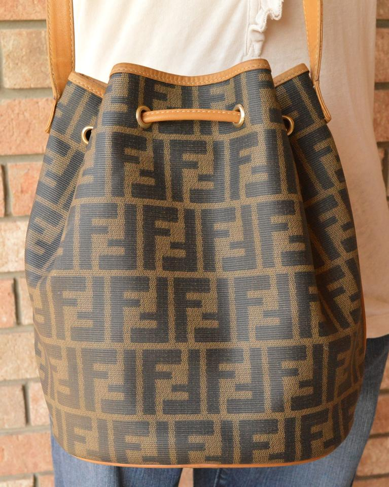 e85c41db78b7 Fendi Vintage Zucca Drawstring Bucket Beige Pvc Shoulder Bag - Tradesy