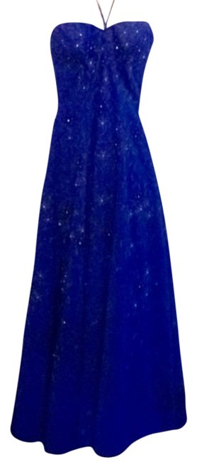 Preload https://item1.tradesy.com/images/precious-formals-royal-blue-strapless-or-uses-neck-strap-long-formal-dress-size-8-m-9948295-0-1.jpg?width=400&height=650
