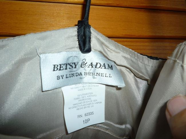 Betsy & Adam Lace Tulle Bow Satin Trim Dress