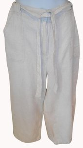 Chico's Khaki 2.5 Large Linen Capris Light Tan