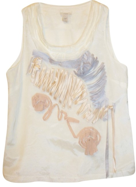 Preload https://item2.tradesy.com/images/size-10-j-crew-casual-night-out-feminine-tank-top-off-white-994986-0-0.jpg?width=400&height=650