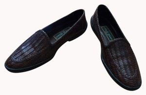 Cole Haan Hand Woven Slip On Brown Flats