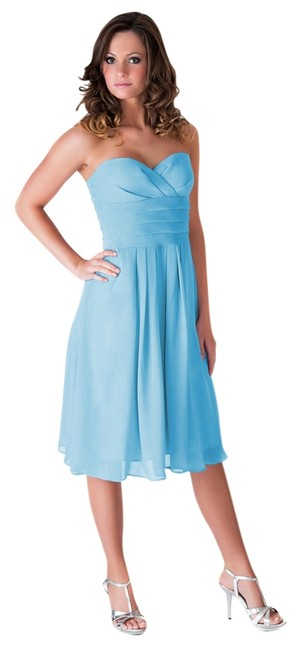Preload https://item3.tradesy.com/images/blue-strapless-pleated-waist-slimming-chiffon-knee-length-cocktail-dress-size-4-s-995127-0-0.jpg?width=400&height=650
