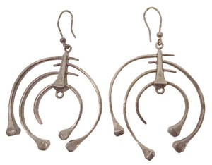 Bottega Veneta DANGLING BRUSHED SILVER EARINGS