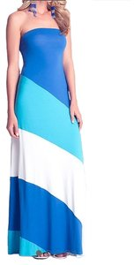 BLUE,WHITE,GREEN Maxi Dress by bebe Maxi Summer Wedding