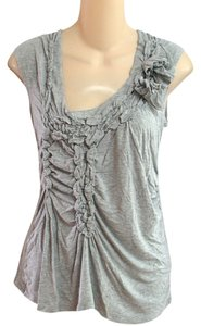 Willi Smith Gathered Knit Tank Worn Once Top Heather Gray