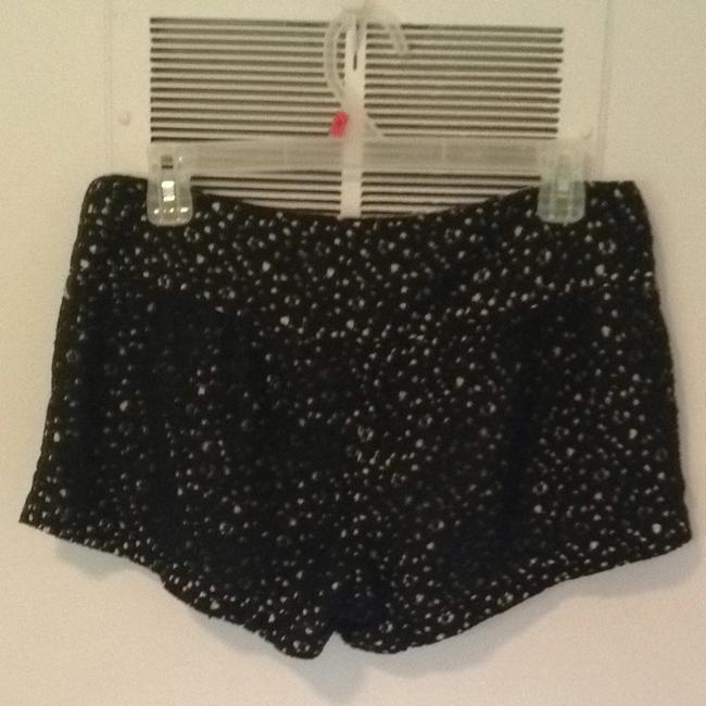 Just Ginger Shorts Black And White Pattern
