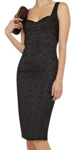 Zac Posen Embroidered Midi Sheath Cocktail Dress