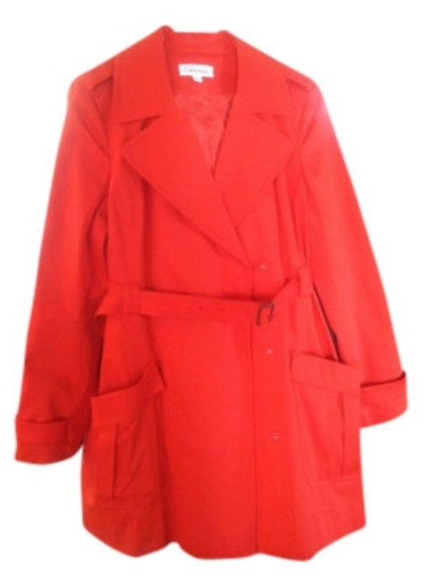 Preload https://item5.tradesy.com/images/calvin-klein-orange-trench-size-12-l-9954-0-0.jpg?width=400&height=650