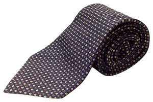 Monti NAVY BLUE WITH LIME GREEN AND SIENNA SMALL SQUARE TIE