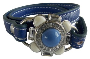 Lia Sophia Lia Sophia Under Wraps Blue Leather Bracelet