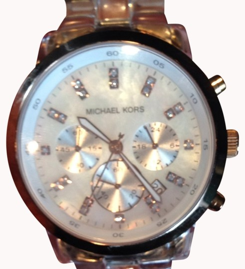 Preload https://item2.tradesy.com/images/michael-kors-clear-plastic-mother-of-pearl-watch-995546-0-0.jpg?width=440&height=440