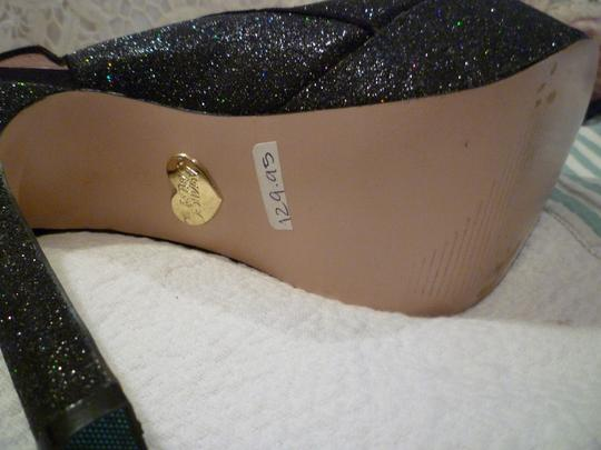 Betsey Johnson Platform Sparkle Black Formal