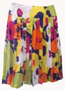 Chanel 100% Silk Skirt Multicolored