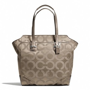 Coach Taylor Art Tote in SILVER/FLINT/ BEIGE