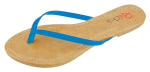 Red Circle Footwear Blue Sandals
