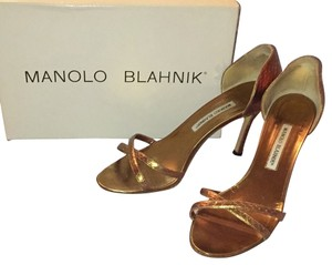 Manolo Blahnik Evening Stiletto Bronze metallic Formal