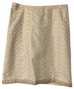 Banana Republic Skirt Gold and off white