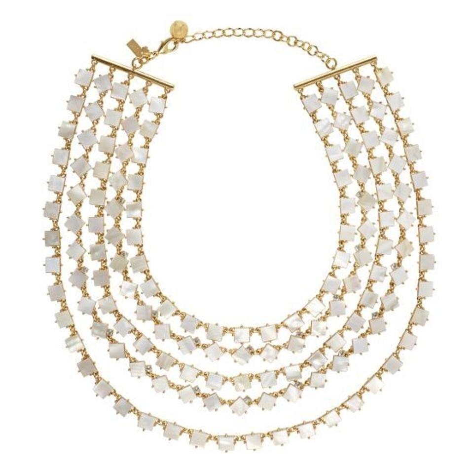Kate Spade Kate Spade Pearl Cove Necklace Nwt Exquisite 5 Strand Mother  Of Pearl & Crystal
