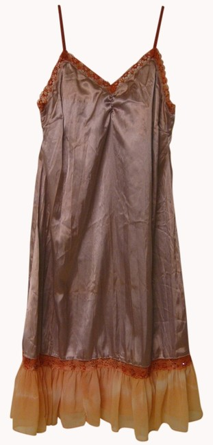 Item - Pink Silk Beading Embellished Summer New Knee Length Night Out Dress Size 6 (S)