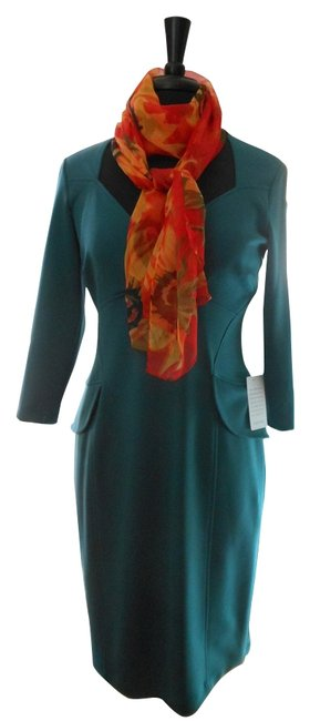 Preload https://img-static.tradesy.com/item/9959104/maggy-london-teal-mid-length-workoffice-dress-size-8-m-0-1-650-650.jpg