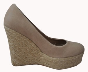 Free Press Canvas Tan Wedges