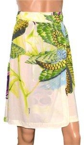 Roberto Cavalli Skirt Green / White / Purple / Blue