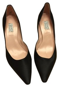 Isaac Mizrahi Black Satin Pumps Pumps