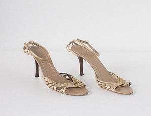 3.1 Phillip Lim Strappy Gold Pumps