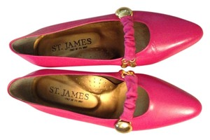 St. James Hot pink and Gold Pumps